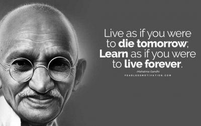 Mahatma Gandhi el creador y precursor de la desobediencia pacífica, todo un amante del AOVE, por salud y principios