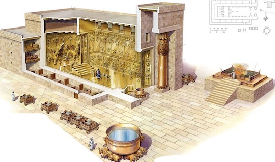 TWO CHERUBIN MADE OF OLIVE WOOD PROTECTED THE ARK OF THE COVENANT