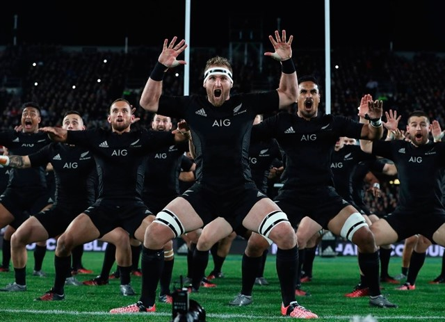 DOING THE HAKA RITUAL DANCE GRANTED THE MAORI VICTORY IN A BATTLE BETWEEN OLIVE TREES
